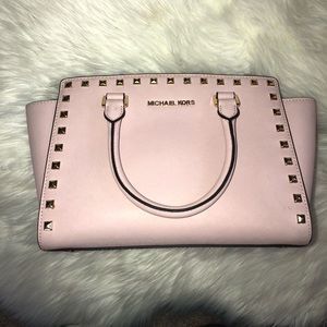 Authentic Michael Kors Studded Pink Tote Mint